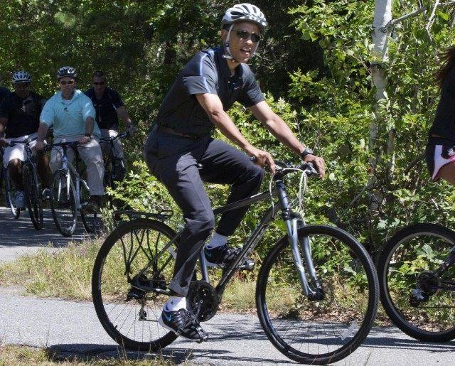 Obama Bike (Jacqueline Martin / Associated Press)