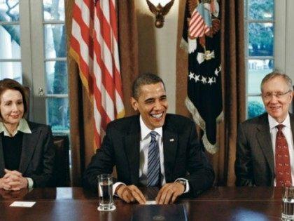 Obama Reid Pelosi AP
