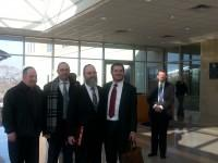 Rabbi Rich with Liberty atty Butterfield in bg is Liberty atty Matteer