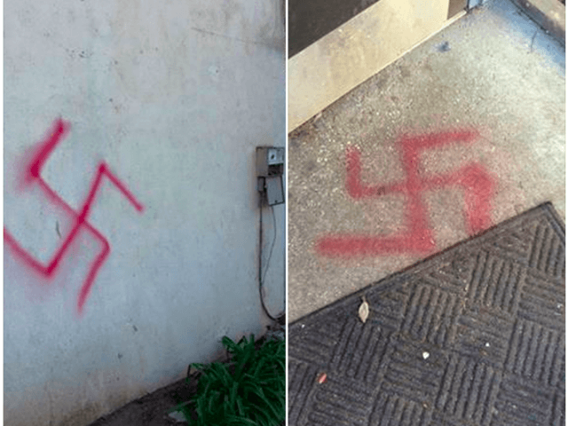 Swastikas at UC Davis AEPi (StandWithUs via Facebook)