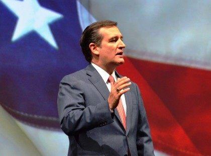 Ted Cruz with Flag
