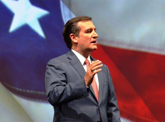 Ted Cruz with Flag