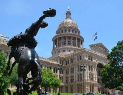 Texas-Capitol-and-Bronc-Rider-Sculpture-640x463