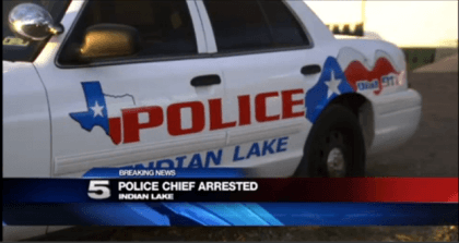 indian lake police chief arrested
