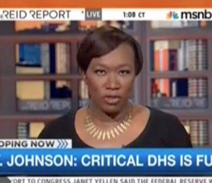 "Wednesday on MSNBC's soon-to-be-cancelled ""Reid Report,"" host Joy Reid cut …"