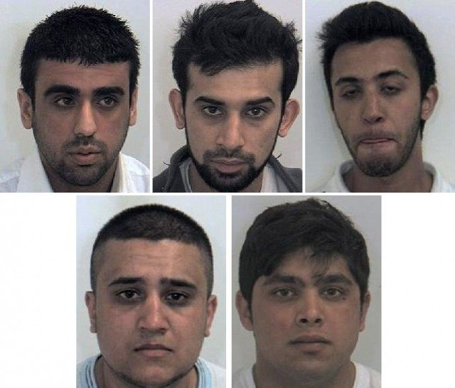 Five men convicted of sex abuse in Rotherham.