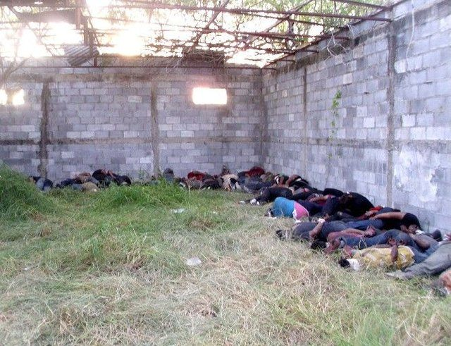 Scene of massacre Central and South American immigrants by Los Zetas cartel members in Tamaulipas. Photo courtesy: Office of the Attorney General of Mexico
