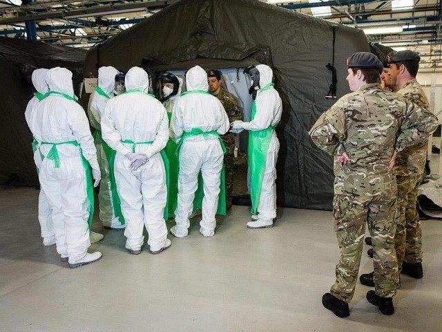 British Army Ebola Tents