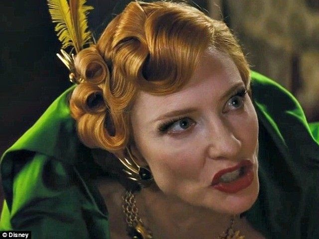Cate Blanchett as the wicked stepmother in Cinderella Disney