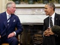 President Barack Obama meets with Britain's Prince Charles in the Oval Office of the White House in Washington, Thursday, March 19, 2015.