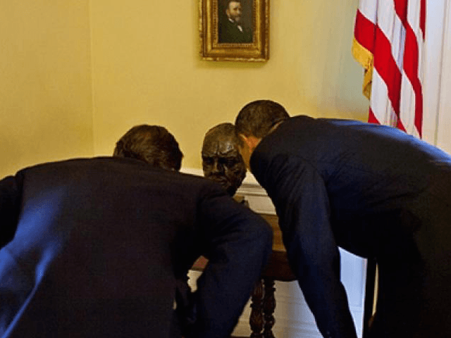 Churchill bust (White House photo)