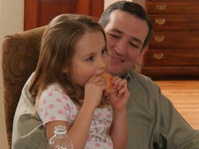 Ted Cruz and his daugthter the day before he announced his presidential campaign. Photo by Matthew Boyle.