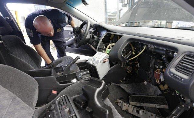 Drug Smuggling in Car - AP Photo - Gregory Bull