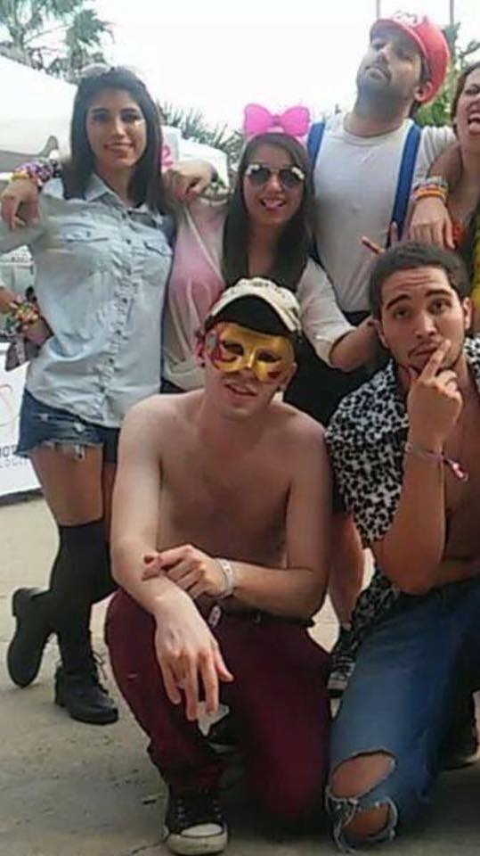 Jordan Britten, wearing gold mask, on the last day he was seen at the Ultimate Music Experience in South Padre Island. Photo Michael Frey/Facebook.