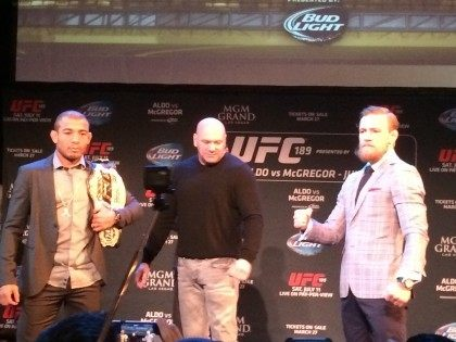 Jose Aldo Conor McGregor Boston