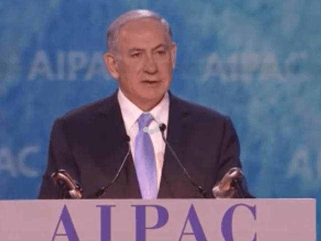Netanyahu at AIPAC (Screenshot / Youtube)