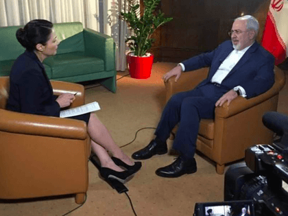 Ann Curry and Javad Zarif (NBC News)