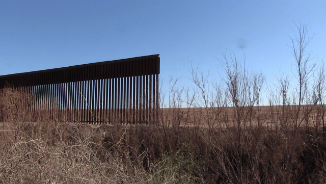 Unfinished Border Fence at Fort Hancock, Texas