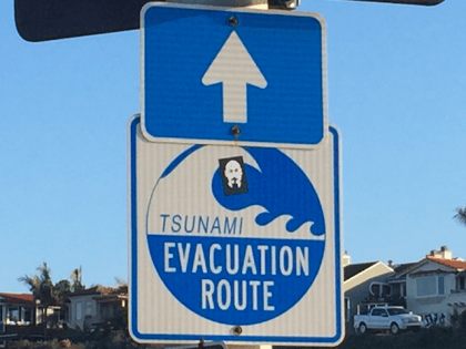 Tsunami Drill (Michelle Moons / Breitbart News)