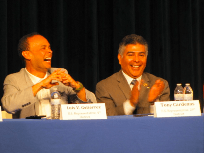Gutierrez and Cardenas (Michelle Moons / Breitbart News)
