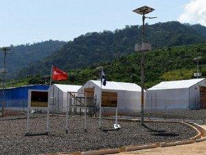 Sierra Leone Ebola British Camp AP