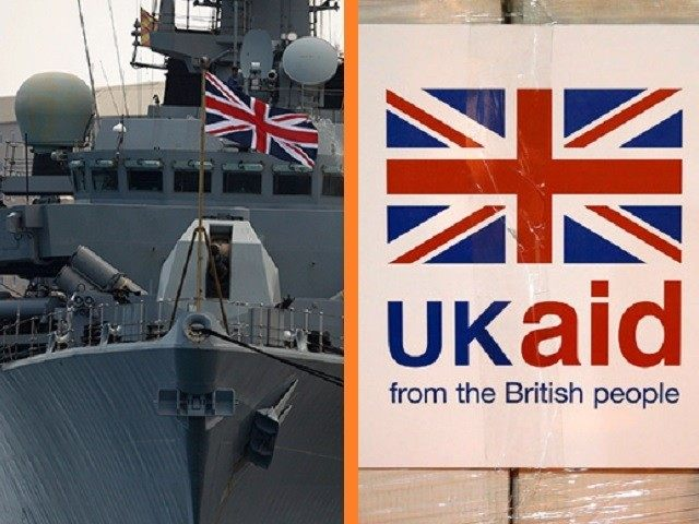 UK AID MOD WARSHIP ROYAL NAVY