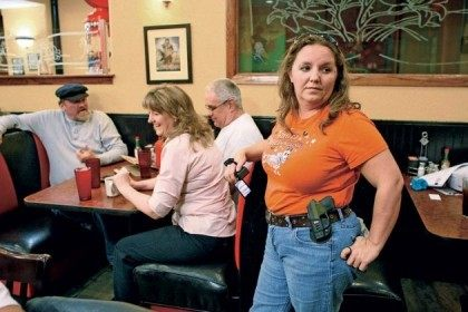 Woman Open Carrying in Resturaunt - Reuters-Bill Waugh