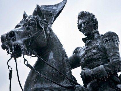 andrew-jackson-statue-ice-AFP