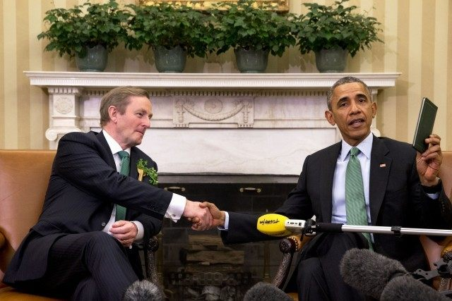 Barack Obama, Enda Kenny