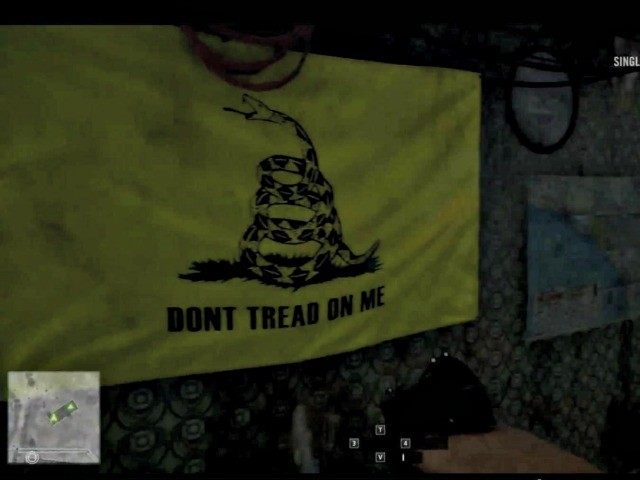The Gadsden flag from the Gamescom alpha footage of 'Battlefield Hardline' found next to schematics for a sarin bomb.