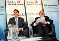 Gordon Brown and Ed Miliband