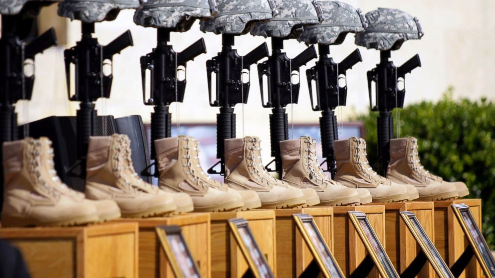 Fort Hood Memorial. Photo By Donna McWilliams, AP