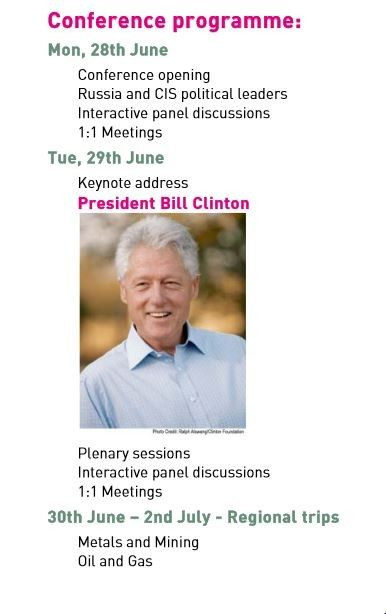 Bill Clinton Renaissance 2010 flyer