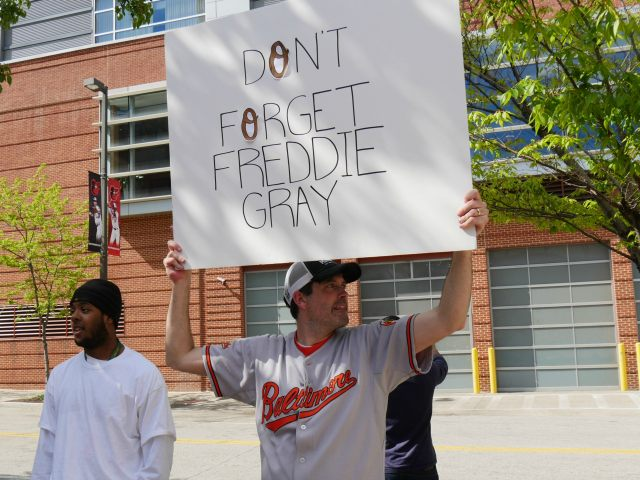 Freddie Gray Protestor Camden Yards