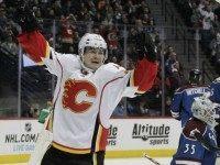 Jiri Hudler Calgary Flames AP