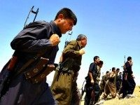 Kurdish Peshmerga Forces Stand Guard Near Mosul