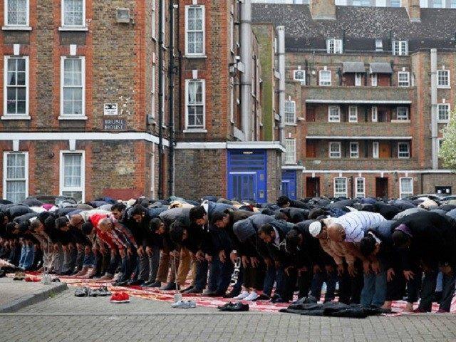 Muslims Pray Tower Hamlets London Reuters