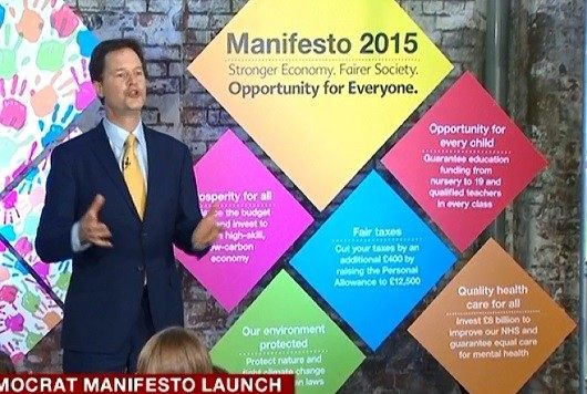 Nick Clegg manifesto