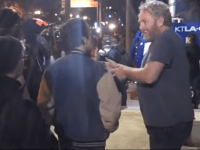 Andrew Breitbart at Occupy LA (Joel Pollak / Breitbart News)