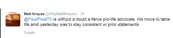 Tweet by Krause re Four Price