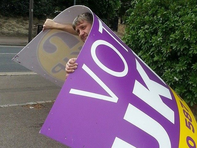 UKIP Sign Carry