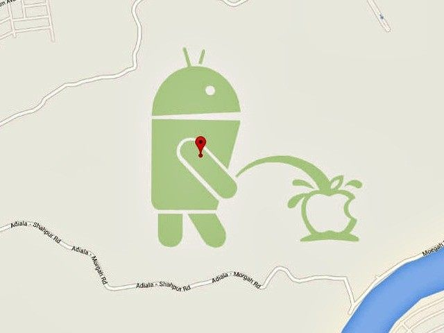android-bot-peeing-apple-logo