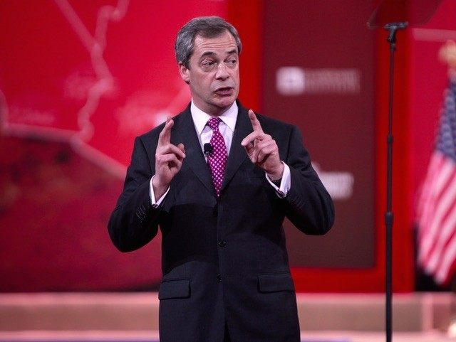 How about this big: Farage wants to cut BBC 'to the bone'.