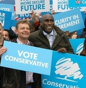 Carig Mackinlay campaigns with Sol Campbell