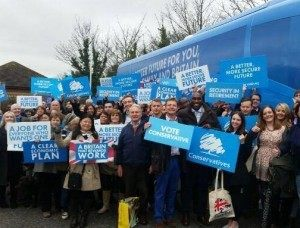 Sol Campbell leading Tory activists in Thanet.