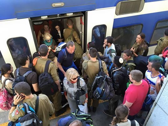 Israel Train (Joel Pollak / Breitbart News)