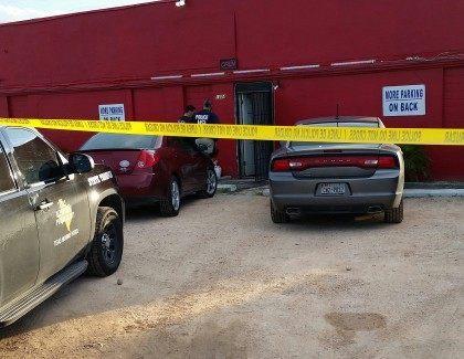 Federal agents continue their raid of an underground casino in Falfurrias, Texas