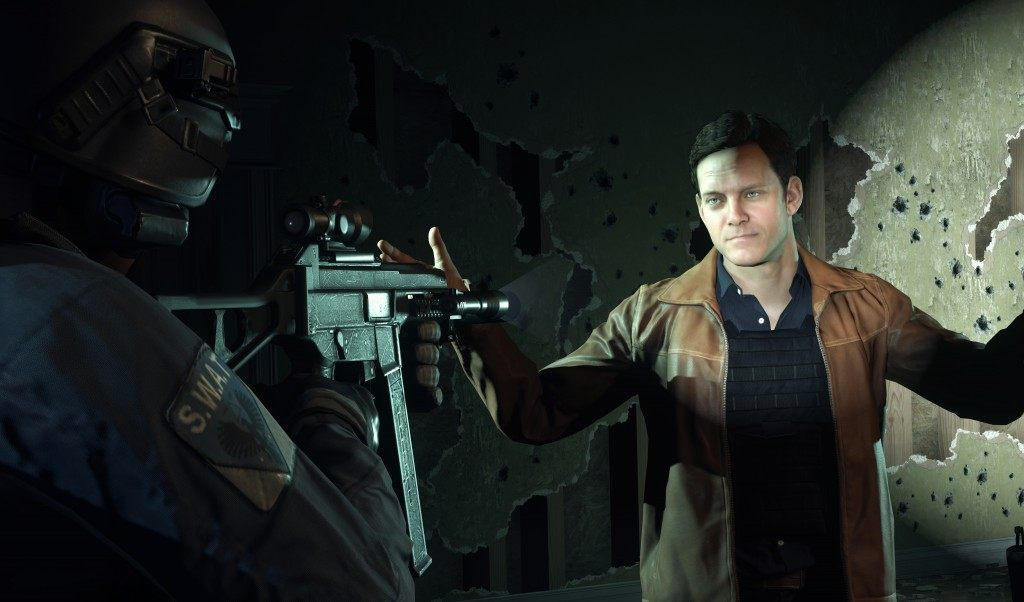 I had this same facial expression throughout my time playing Hardline. --Visceral Games/Electronic Arts