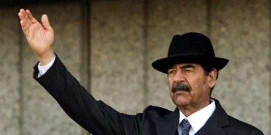 FILE PHOTO OF IRAQI PRESIDENT SADDAM HUSSEIN.
