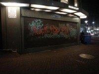 BART graffiti (Joel Pollak / Breitbart News)